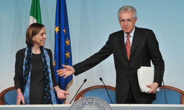 Mario Monti, Elsa Fornero.